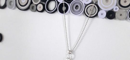 Parure bracelets et collier en suédine et chaine bille